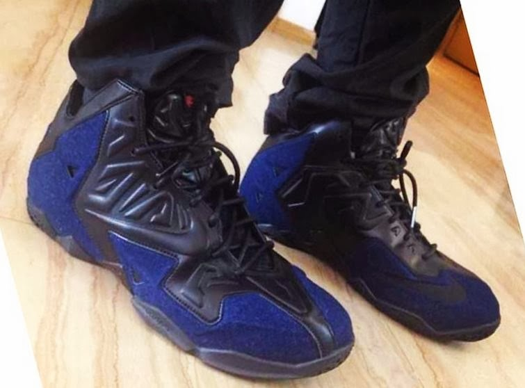 info for 76559 4a1a8 THE SNEAKER ADDICT  Nike Lebron 11 Denim EXT Sneaker (On Foot Images)