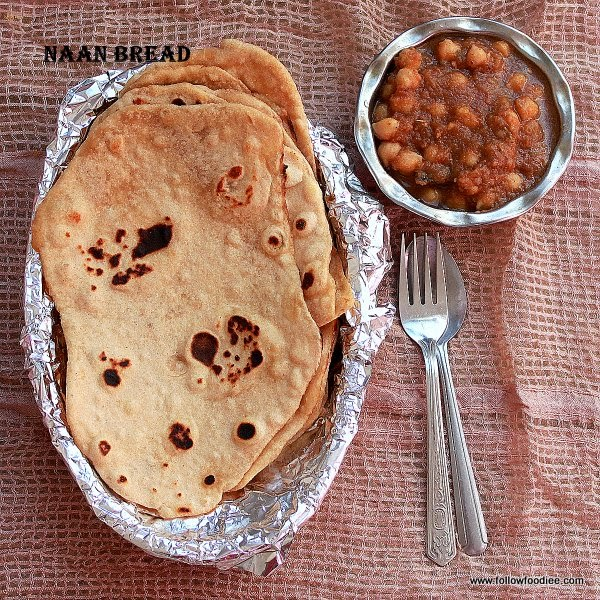 Wheat Naan with No Yeast method , Step by Step Pictorial . Easy and Simple Recipe