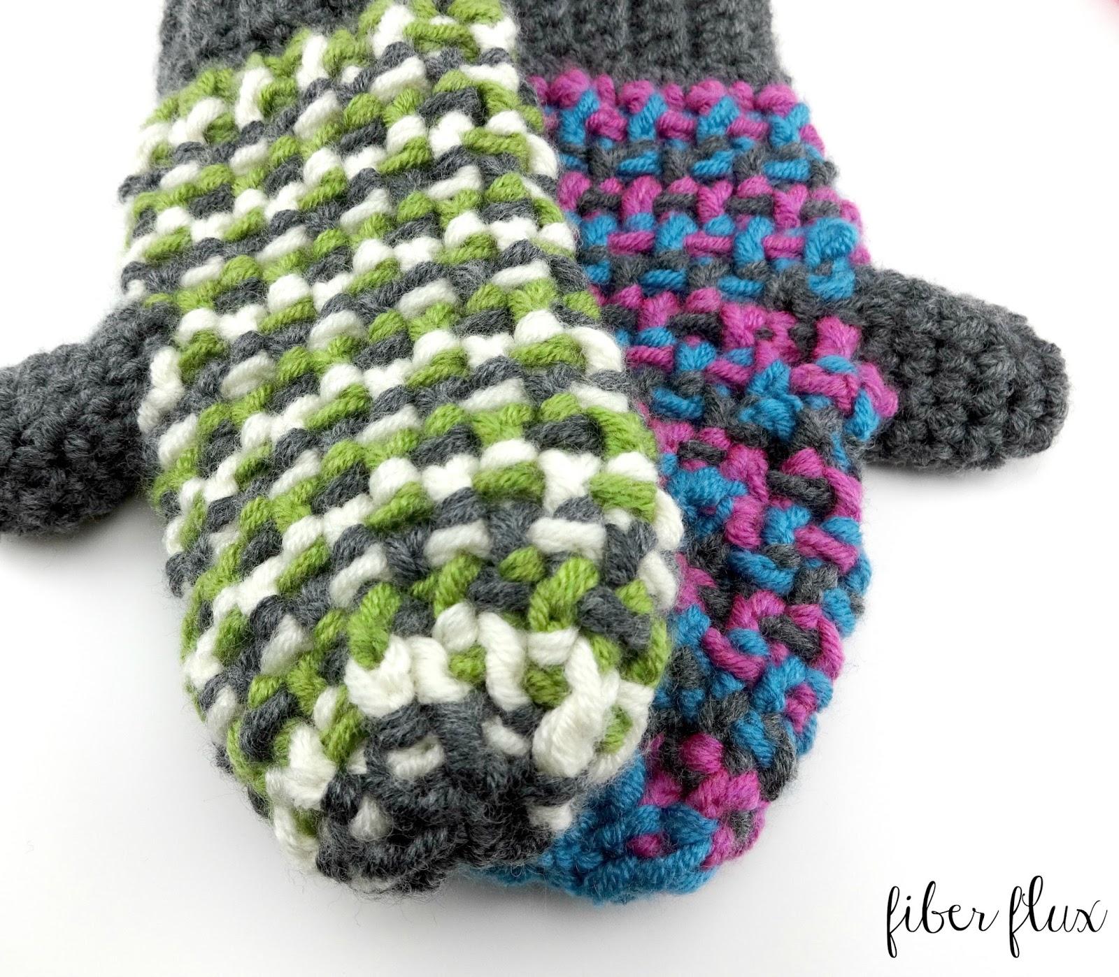 Fiber Flux: Free Crochet Pattern   Sleigh Ride Mittens!