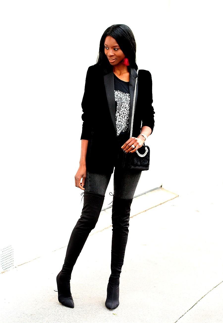 blazer-velours-mango-jeans-cuissardes-shirt-sequins