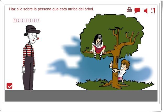 """""""Arriba y abajo"""" (Actividad interactiva de Educación Infantil)"""