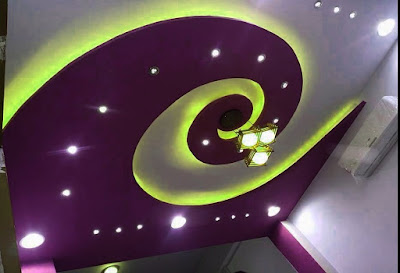 spiral false POP ceiling design ideas for hall 2019