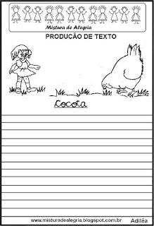 Produção de texto a galinha Cocota
