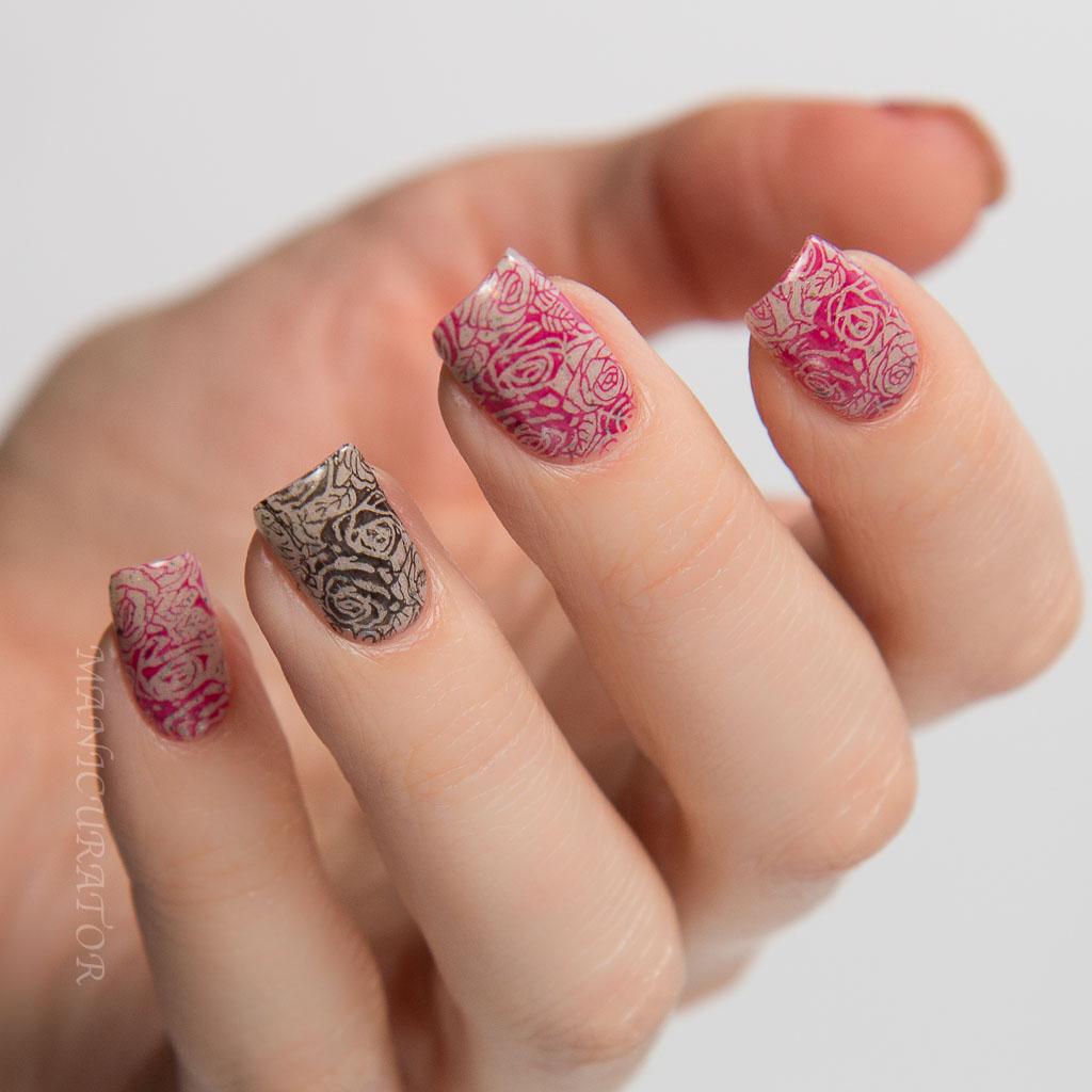 manicurator: KBShimmer Winter 2015 Valentine Rose Nail Art