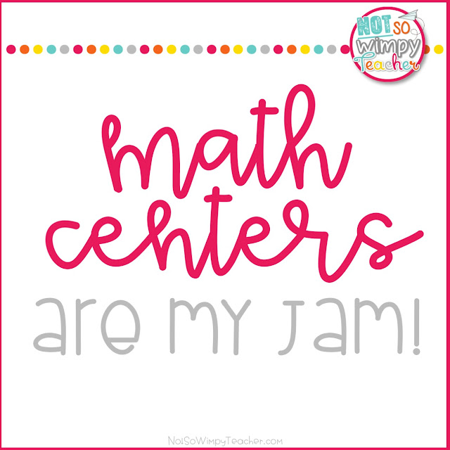 Math Centers are my Jam!