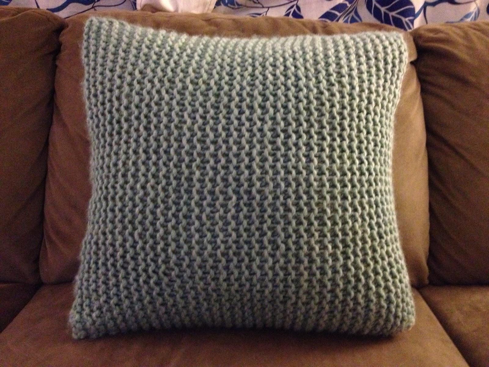 make bake and love: Knit Pillow