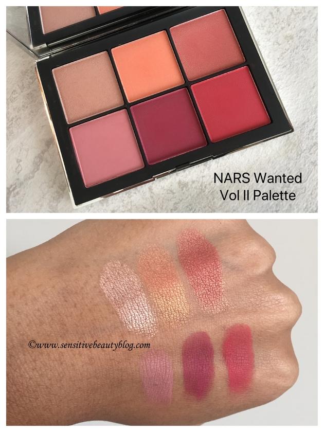 NARS Wanted Vol II blush palette dark skin swatches