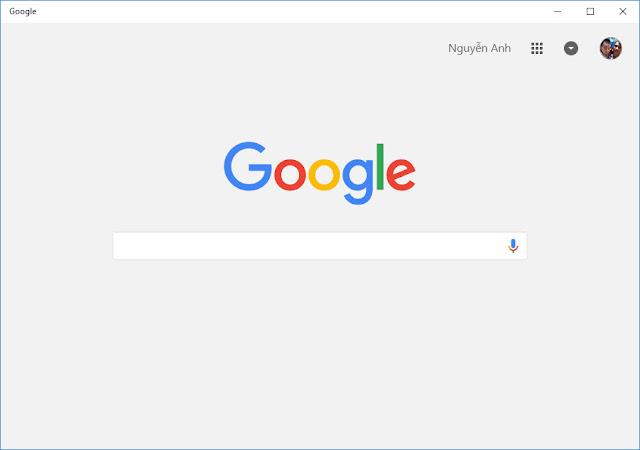 Ứng dụng Google cho Windows 10 cập nhật biểu tượng mới và sửa một số lỗi