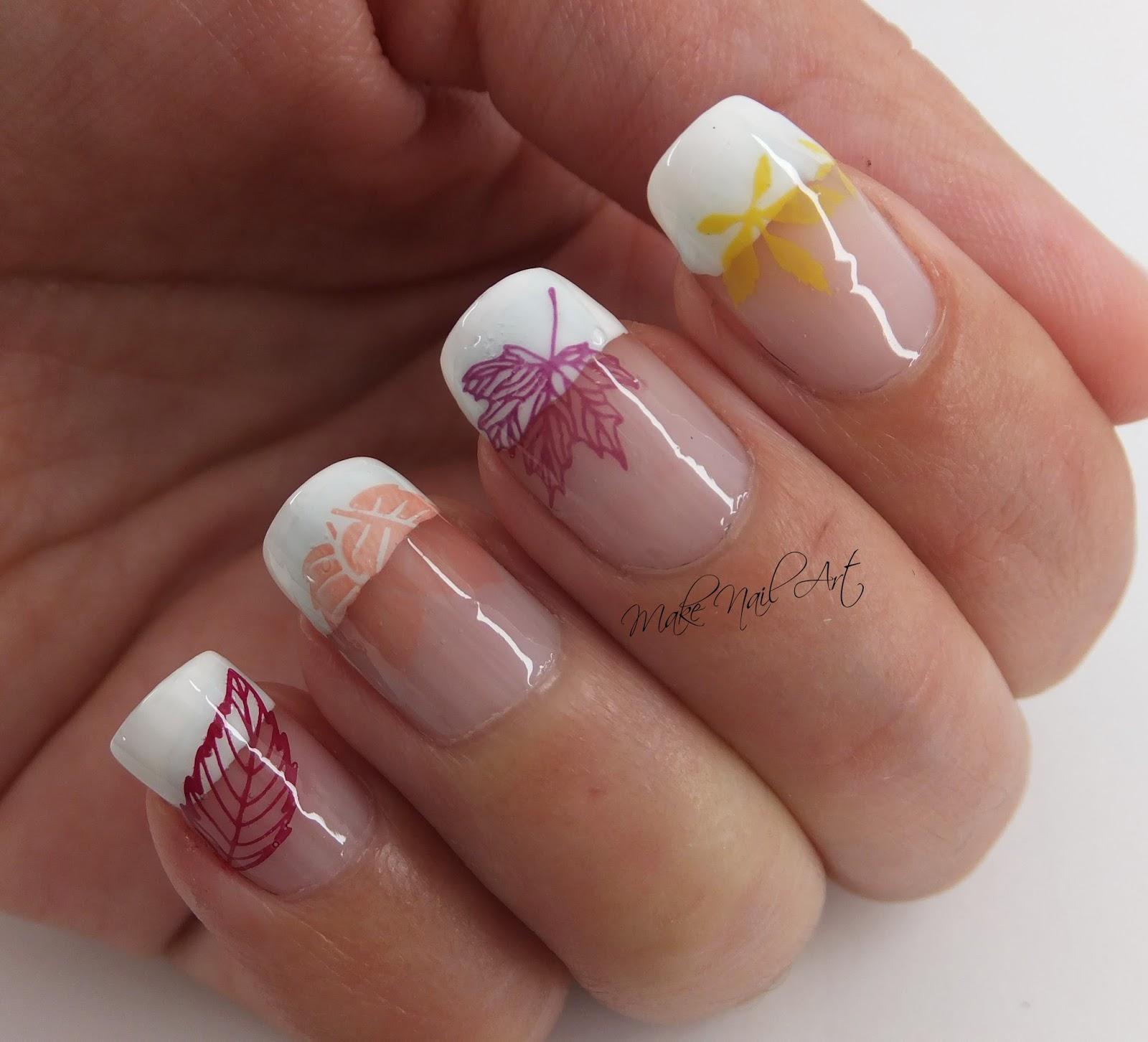 Make Nail Art: Autumn Stamping Leaves Nail Art Design Tutorial