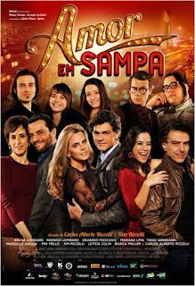 """Poster do filme """"Amor em Sampa"""""""