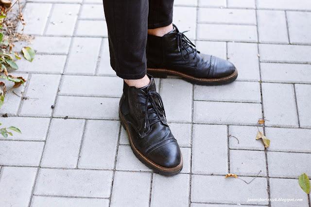 męskie buty z ciekawym wzorem