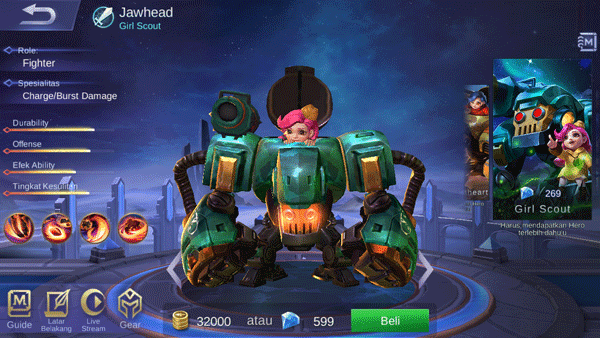 jawhead hero fighter terganas di mobile legends