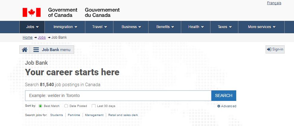 canadian job bank ,bank jobs in canada