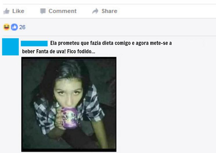 Foi traído e humilhou a namorada no Facebook