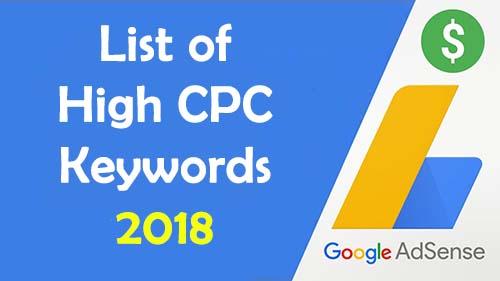 List of High CPC Keywords 2018