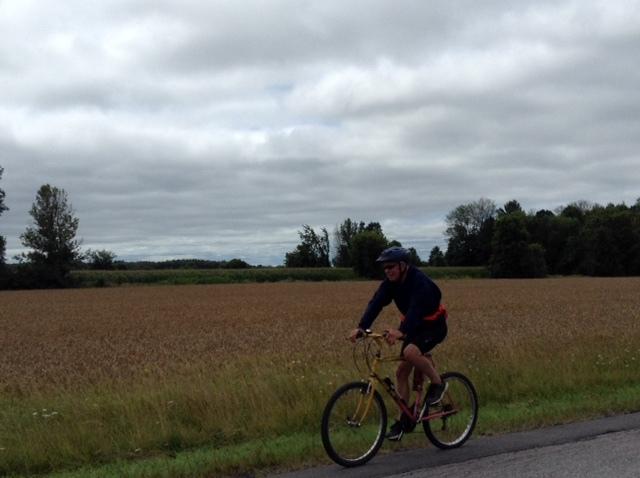 Hubby waiting for me, biking near North Gower