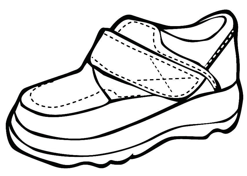 desenhos de sapato tênis sandália tamanco chinelo para pintar