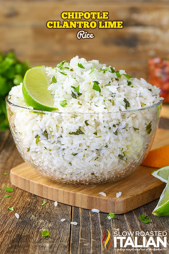 Titled Text: Chipotle Cilantro Lime Rice