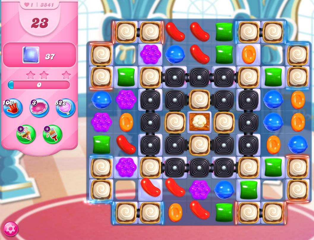 Candy Crush Saga level 3841