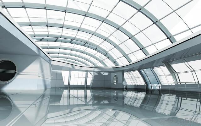 Hình ảnh trần nhà đẹp bằng kính