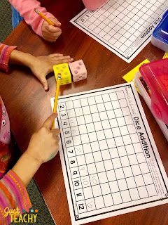 Dice Addition Graph to teach addition