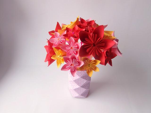 tuto deco fleur origami