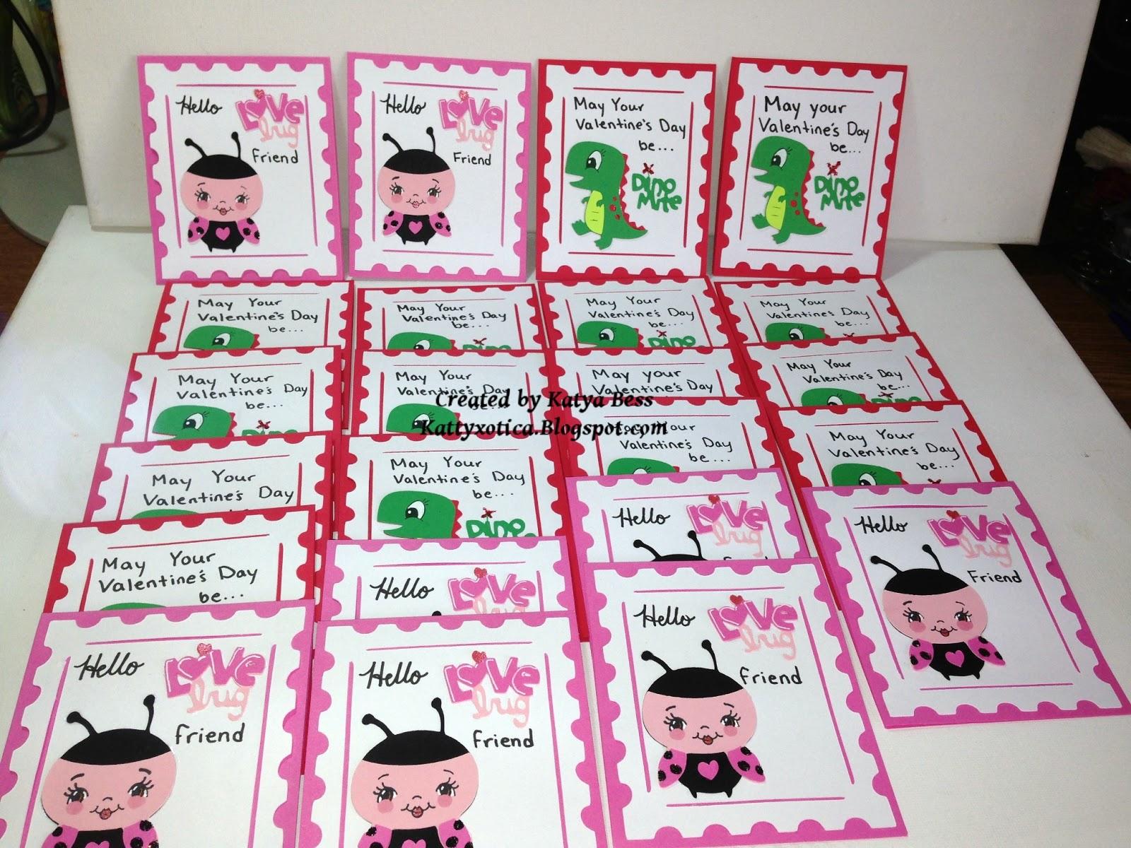 Kattyxotica S Kreations Kids Cricut Valentine S Day Cards 2013