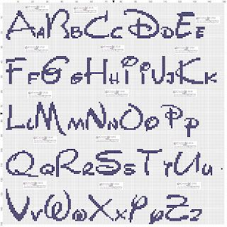 amorevitacrocette alfabeti disney a punto croce