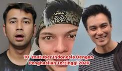 Youtuber Indonesia dengan Penghasilan Tertinggi 2020