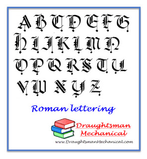 roman lettering www.draughtsmanmechanical.com