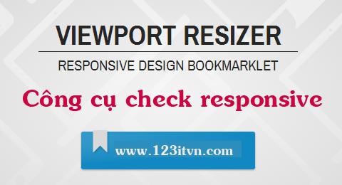 Kiểm tra website responsive bằng Viewport Resizer
