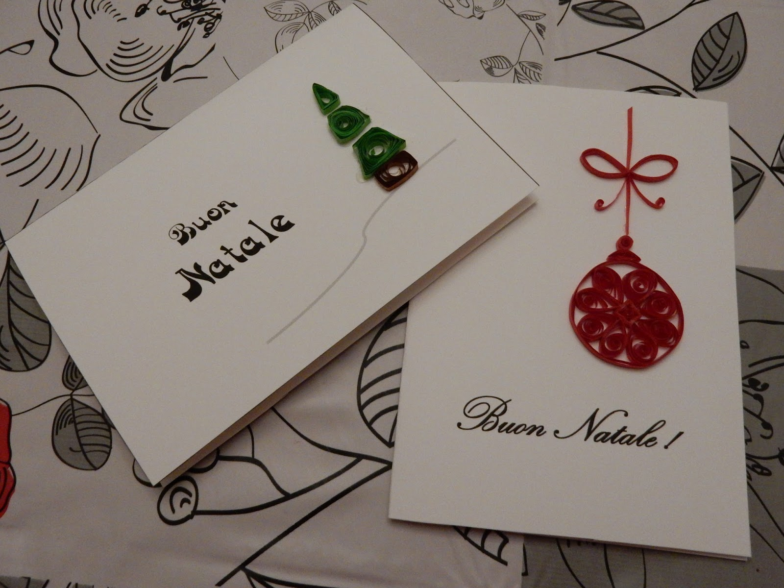 Biglietti Di Natale Di Carta.Quilling Co Un Mondo Di Carta Biglietti Di Natale Quilling
