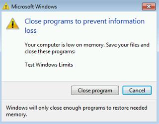 cara mengatasi virtual memory low