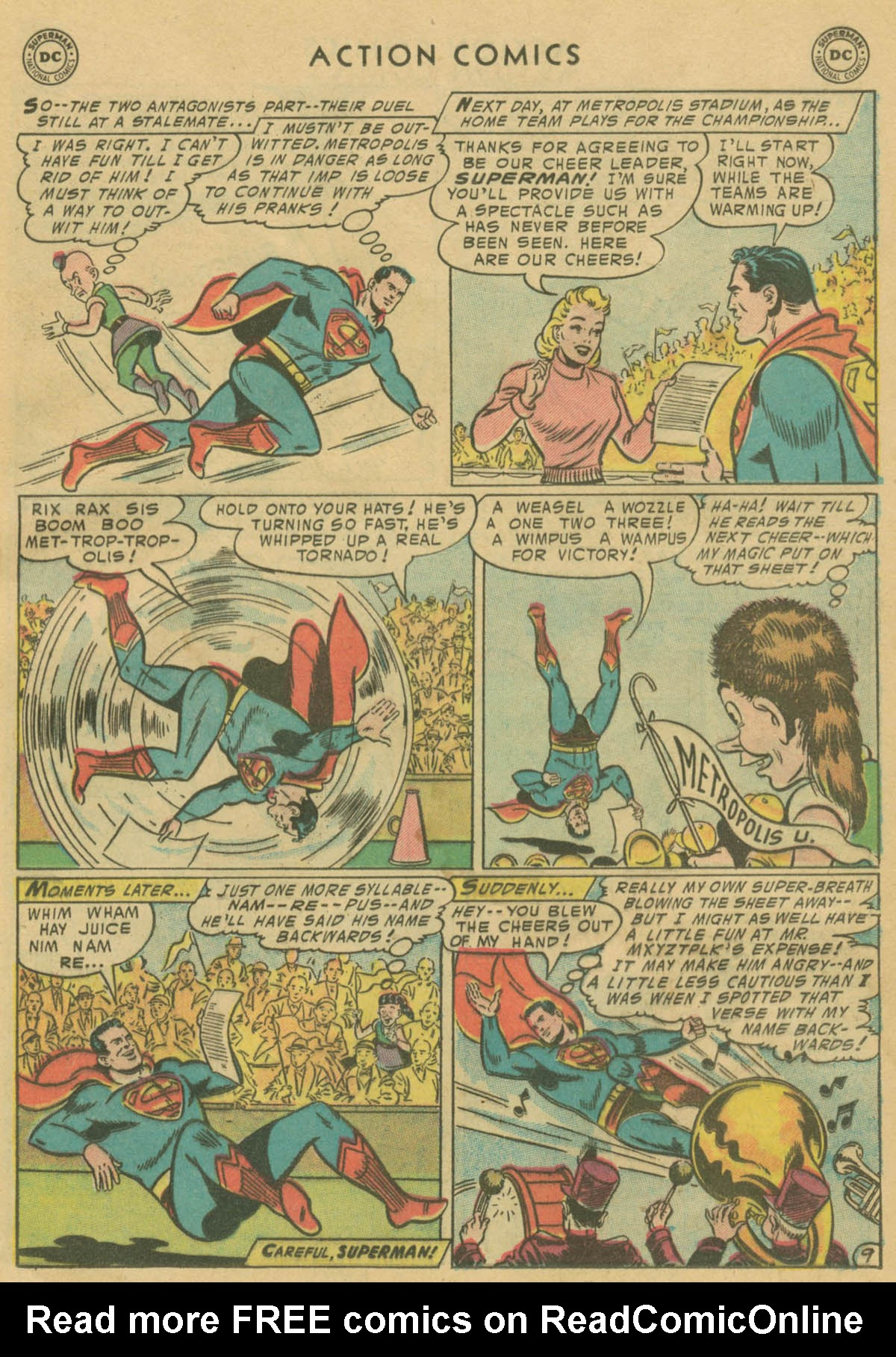 Read online Action Comics (1938) comic -  Issue #208 - 10