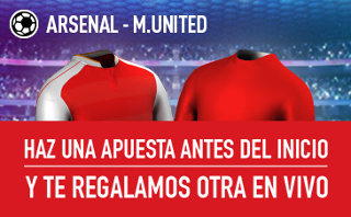 sportium Promocion 10 euros Arsenal vs United 7 mayo
