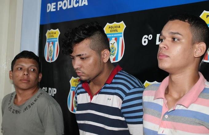 Três marmanjos que obrigou motorista da Uber a dirigir para roubar moto no Nova Cidade são preso