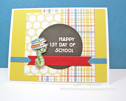 Happy First Day of School card-designed by Lori Tecler/Inking Aloud-stamps and dies from Clear and Simple Stamps