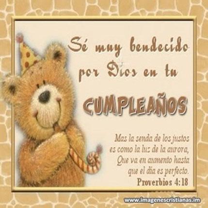 bendecido cumpleaños