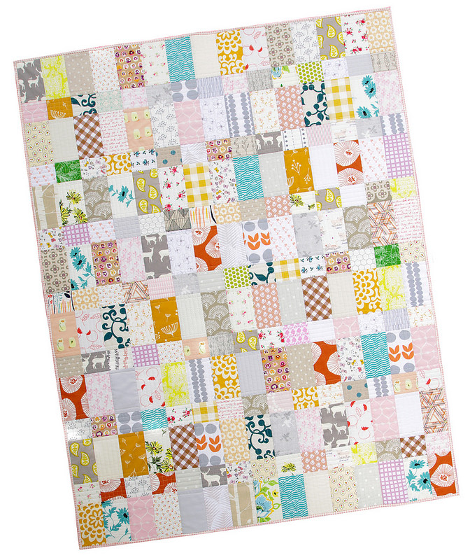 Strips and Bricks Baby Quilt - Custom Order | Red Pepper Quilts