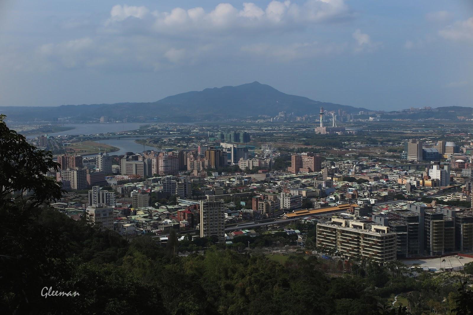 北方可以眺望觀音山。