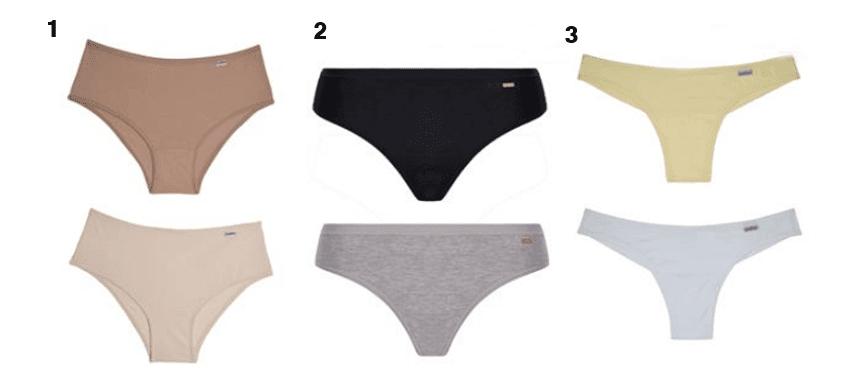 calcinhas variadas