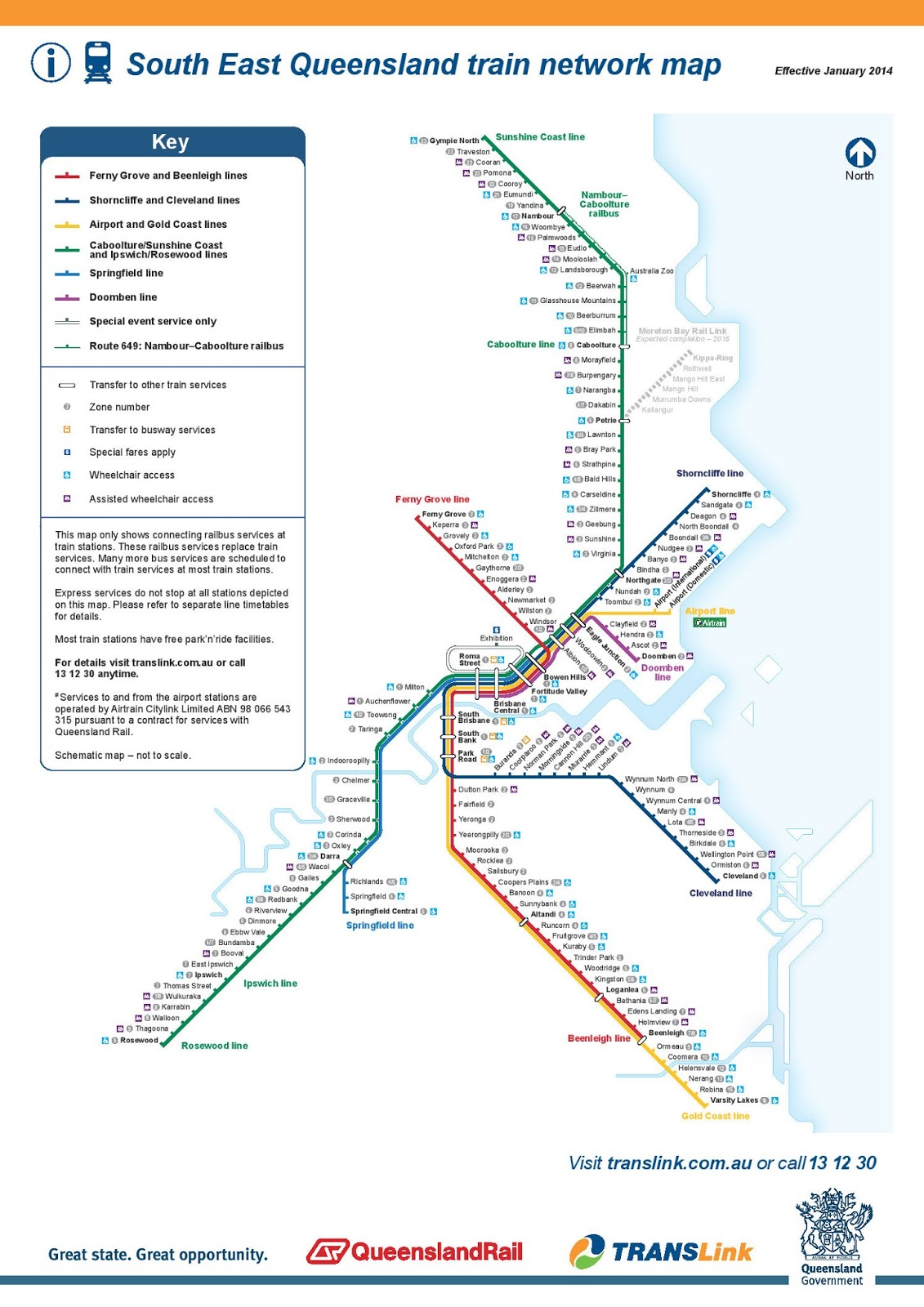 brisbane commuter rail network
