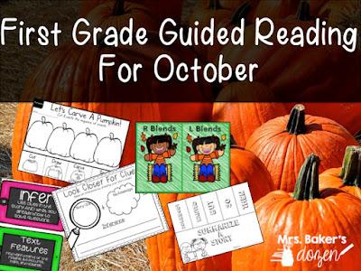 https://www.teacherspayteachers.com/Product/First-Grade-Guided-Reading-For-October-2820137