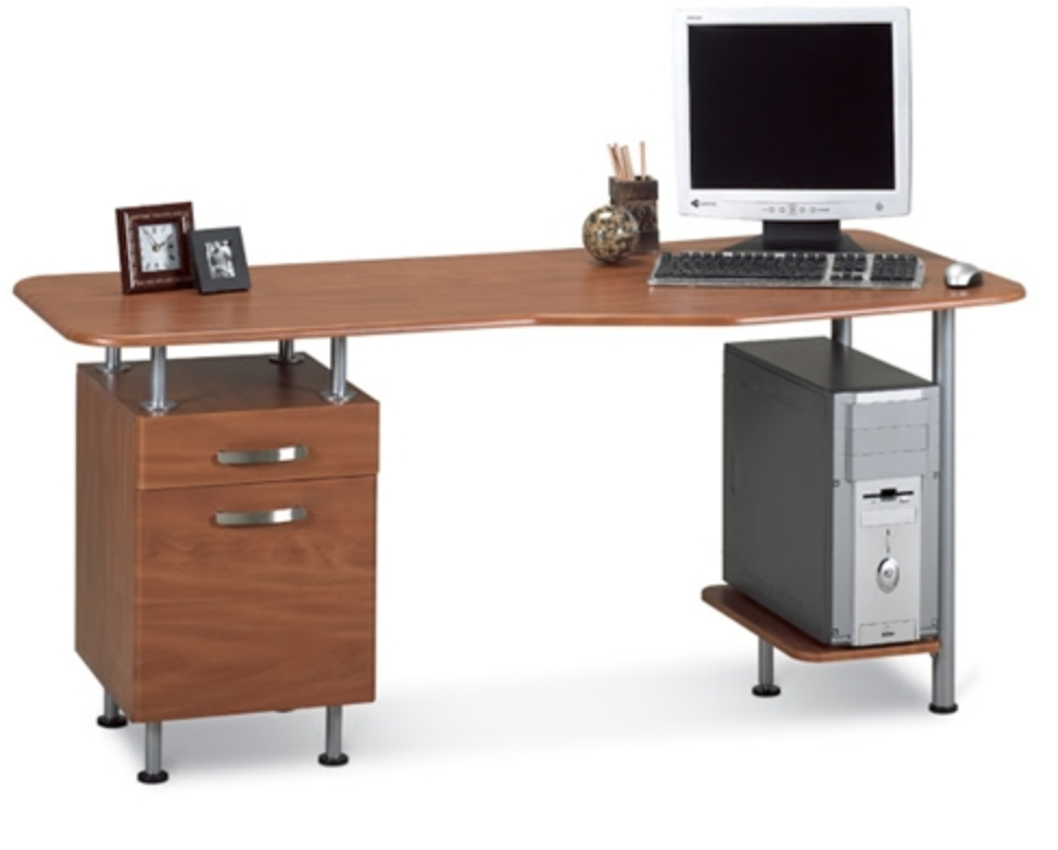 Mayline Eastwinds Cherry Computer Desk wih Pedestal