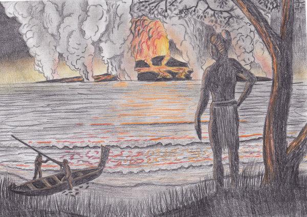 Ηφαιστειακή  έκρηξη της Θήρας: Αν οι μετρήσεις επιβεβαιωθούν αλλάζει η χρονολόγηση της Ιστορίας.
