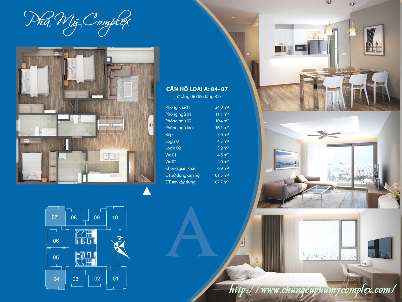 Đặt mua chung cư Phú Mỹ Complex với trực tiếp chủ đầu tư