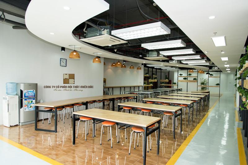 Thiết kế nội thất phòng làm việc có khu ăn uống riêng cho nhân viên