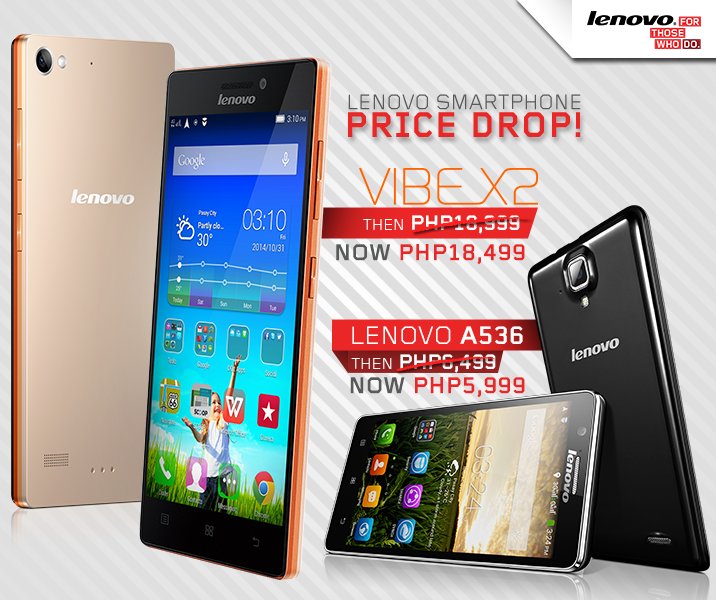 Lenovo Vibe X2 and Lenovo A536 PRICE DROP