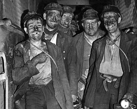 Nottingham miners in 1948