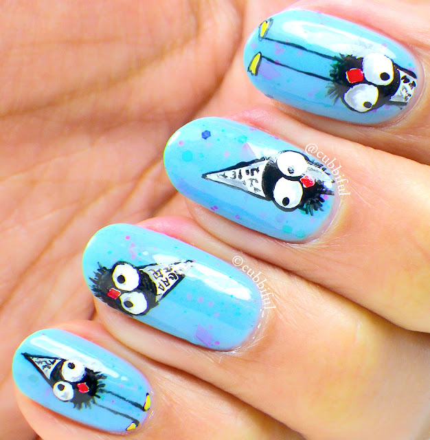 cute whimsy nail art